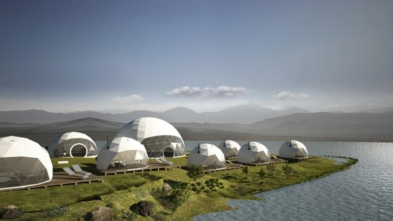 Samowystarczalne namioty kopułowe Okrągłe Miasteczko