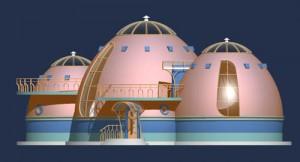 Rozbudowane domki kopułowe